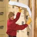 JM Fiberglass Batt Install Wall